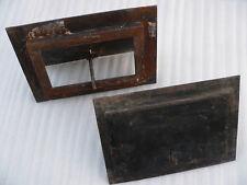 2 portes cadres trappes fer ouvrante aération ventilation cheminée 27,8X19,8 cm