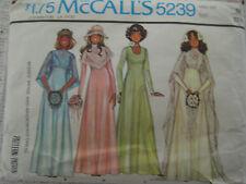VTG McCalls 5239 PRINCESS WEDDING DRESS Sewing Pattern