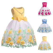 Flower Kids Girls Ball Gowns Dress Princess Bridesmaid Party Christmas Dresses