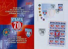 Rumänien 2017 NEU Steaua Bukarest,Fußball,Wappen,Emlem,Soccer, Marke,Zf,KB,FDC