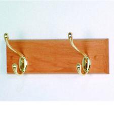Oak Wood Coat Rack Coat Hanger Hat Hanger Wall Mount Door Bag Hanger Key Hanger