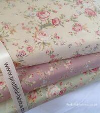 Vintage Rosas Floral 100% Algodón, tela, costura, Artesanales. Nueva Colección Primavera
