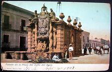 MEXICO 1908 OAXACA ~ Fuente en la Plaza del Salto del Agua