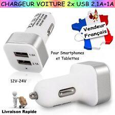Chargeur de Voiture Double Port USB 2,1A+1A pour vos Smartphones et/ou Tablettes