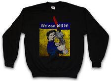 WE CAN KILL IT! SWEATSHIRT PULLOVER vs Evil Ashy Ash Gore Chainsaw Arm Dead