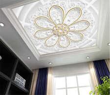 Crystal Divine Petal 3D Ceiling Mural Full Wall Photo Wallpaper Print Home Decor