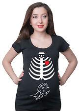 Skeleton Pregnancy X-ray maternity T-shirt