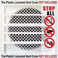 Aroma Trees Dryer Vent Bird Stop - Dryer Vent Grill - Pest Guard - Stops Birds -