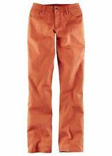 mujer vaquero elástico Recto k-talla, 102980 in Naranja-Rojo USADO