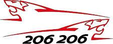 Stickers autocollants kit peugeot sport lion 206