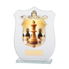 SCACCHI IN VETRO Trophy Award nel 4 dimensioni con incisione gratuita fino a 30 Lettere