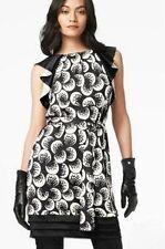 DVF Diane Von Furstenberg HAYTAN Silk Jersey Belted Dress Bubble Moon $345