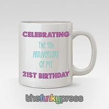 Celebrando COMPLEANNO 30° 40th 50° SLOGAN Divertente Tazza regalo tè caffè tazza