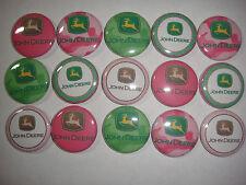 John Deere  buttons flat backs or pin badges cabochons embellishments magnets