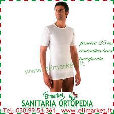 Maglia intima uomo lana mezza manica fascia incorporata pancera contenitiva