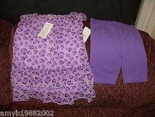 George Purple Heart Print 2 Piece Set Size 4T Girls NEW FREE USA SHIPPING