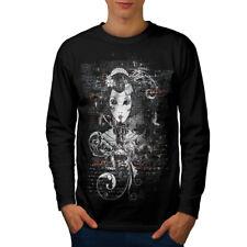 Gothic asiatico LADY Uomini Manica Lunga T-shirt Nuove   wellcoda