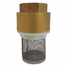 Messing Fußventil Innengewinde Rückschlagventil mit Edelstahl Filter Saugkorb