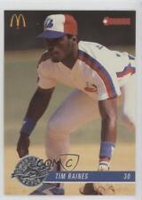 1993 Donruss McDonald's Montreal Expos Restaurant Base #6 Tim Raines Card