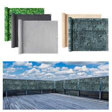 PVC Balkon Sichtschutz Balkonschirm Markise Sonnenschutz Windschutz Sichtblende