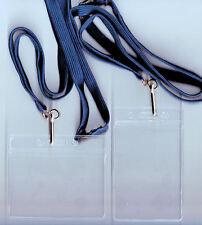 10 Trasparente Flessibile ID Badge Portadocumenti & 10mm Lacci: Disponibili