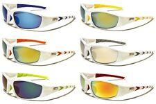 New X Loop Sports 100% UV400 White Frame Sunglasses Baseball Bike Fishing XL2453