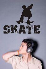 Wandaufkleber - Wandtattoo - Skater - Skateboard - Sportmotiv - Skate