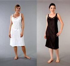 Damen Unterkleid Unterrock Haft Wiederständig Petticoat Schwarz Weiß Größe 12-32