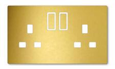 GOLD METAL EFFECT UK PLUG SOCKET STICKERS KIDS BEDROOM LIVING ROOM DECOR