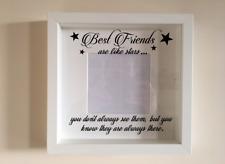 IKEA RIBBA Box Frame Personalised Vinyl Wall Art Quote Best friends like stars