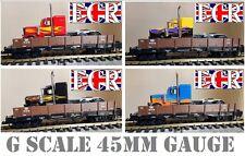 G escala 45mm Plataforma & Clásico NewRay KENWORTH Metálico Camión Ferrocarril