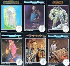 DONJONS & DRAGONS 6 Cartes Neuves de 1992 (DUNGEONS) Lot N° 084