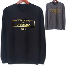 New Fashion Mens CHICAGO Round Crew Neck Sweatshirts Pullover Sweater Top W023
