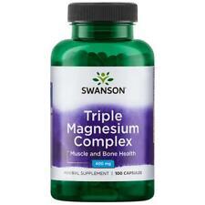 Swanson Triple Magnesium Complex Capsules, 400 mg, 100 Ct