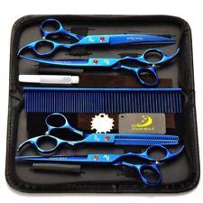 "4Pcs 7"" Salon Barber Scissors Hairdress Shears Pet Dogs Cat Grooming Fur Clipper"