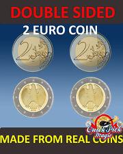 Pièce de 2 Euros double avec la même face / pile - truc de magie