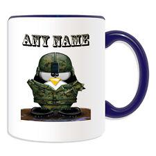Personalised Gift Soldier Helmet Penguin Mug Money Box Cup Army Uniform Military