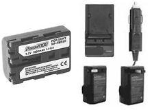 Battery + Charger for Sony Alpha DSLR-A100/B DSLR-A100K/B DSLR-A100W DSLR-A100K