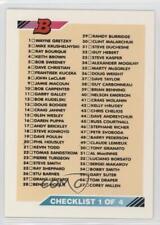 1992-93 Bowman #110 Checklist Hockey Card