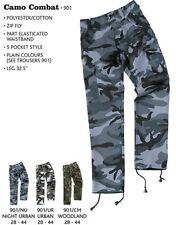 "NIGHT Urban Combat Trousers, BDU's, 28"" to 42"" (Dark Blues Camo)"