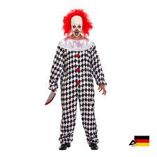 HERREN GRUSELIGER CLOWN KOSTÜM Halloween Fasching Verkleiden Karnewal ABAV