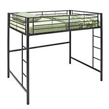Pemberly Row Metal Full/Double Loft Bunk Bed in Black
