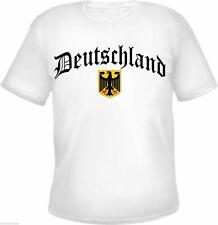 DEUTSCHLAND T-Shirt - Altdeutsch / Wappen - WEISS - Größe S - 3XL - ultras wm em