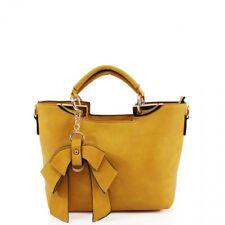 Le donne alla moda Catena Fiocco Design Donna Ragazze Tote Manico Spalla Cross Corpo Bags