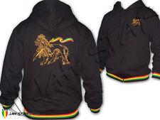 Felpa con Cappuccio Giacca Rasta Reggae Ricamato Lion Of Judah