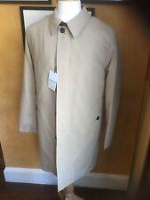 Men's Cole Haan Tan Top Coat Rain Coat removable liner leather tm S M L $489 NWT