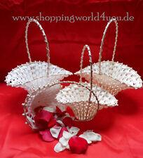 Hochzeit Blumenstreukörbchen in weiß und creme, in zwei Größen erhältlich