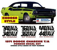 GE-QG-516 537 534 1970 DODGE CHALLENGER - FENDER DESIGNATION DECAL SET - CHOOSE