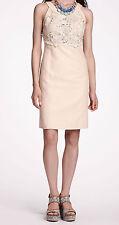 Postmark Oleander Openwork Shift Dress Sizes 10, 12P Ivory NW ANTHROPOLOGIE Tag