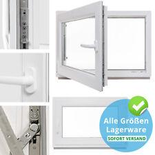 Kellerfenster Kunststoff Fenster 2 &3 Fach Verglast Dreh Kipp alle Grössen Lager
